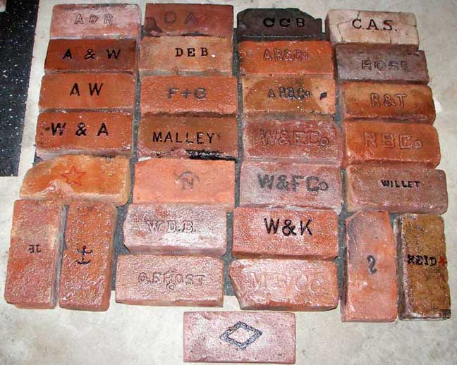 Samples of Hudson River bricks, courtesy of the Frank and Jane Clement Brick Museum.