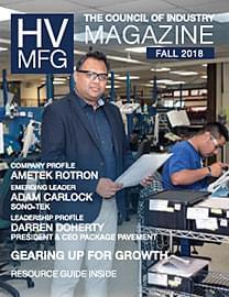 HV Mfg Magazine Fall 2018 cover