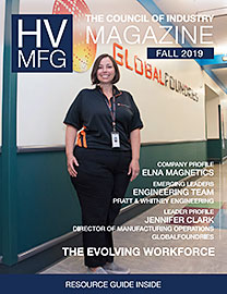 Cover of HV Mfg magazine, Fall 2019